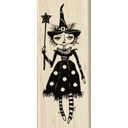 """InkadinkadoMounted Rubber Stamp 2""""X4.75""""-Witch Doll"""