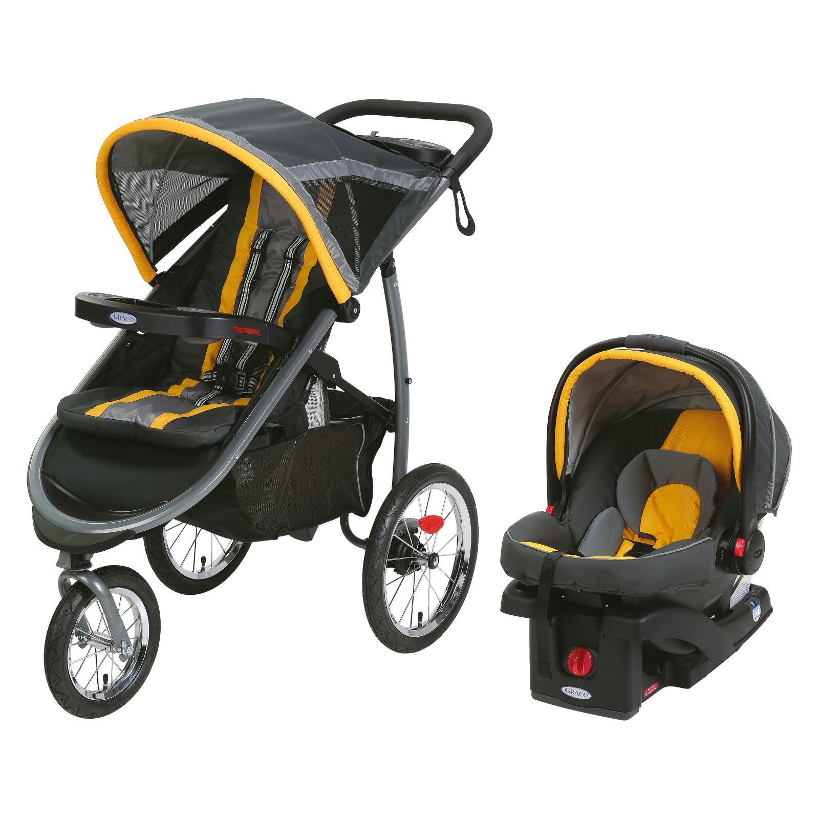 Graco Fastaction Jogger Travel System With Snugride Click