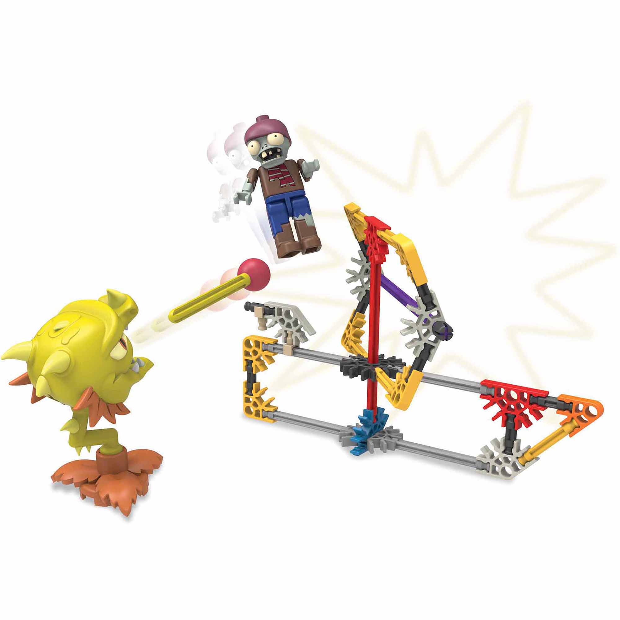K'NEX Plants vs  Zombies Building Set: JetPack Zombie Attack
