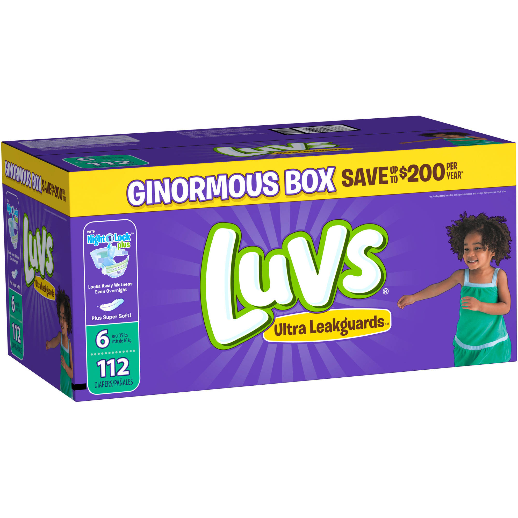 Luvs Ultra Leakguards Diapers, Size 6 (Choose Diaper Count)