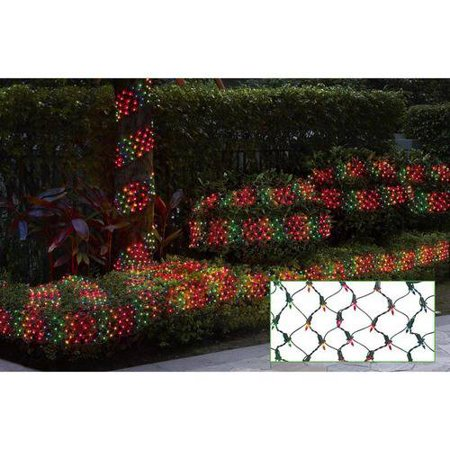 Holiday Time Ribbon Style Net Christmas Lights  Multi  150 Count