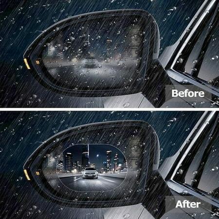 2PCS Rainproof Auto Rearview Mirror Sticker Anti-fog Protective Film Rain Shield