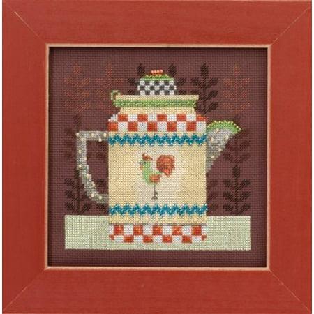 Debbie Mumm Bird - Debbie Mumm Coffee Pot Counted Cross Stitch Kit-4.75x4.75 16 Count