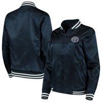 New York City FC Antigua Women's Strut Bomber Jacket - Navy