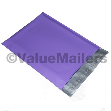 100 10x13 Purple ValueMailers Poly Mailers Shipping Envelopes Bags 10