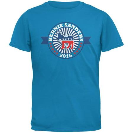 Election 2016 Bernie Sanders Democratic Donkey Sapphire Blue Adult T Shirt