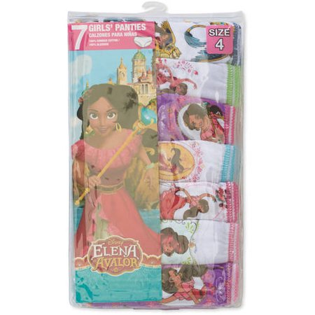 Disney Elena Of Avalor, Girls Underwear, 7 Pack Panties (Little Girls & Big Girls)