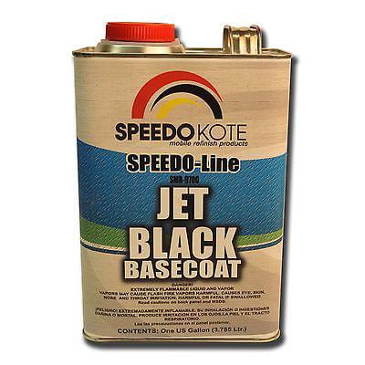 Jet Black Basecoat for automotive base coat , One Gallon SMR-9700