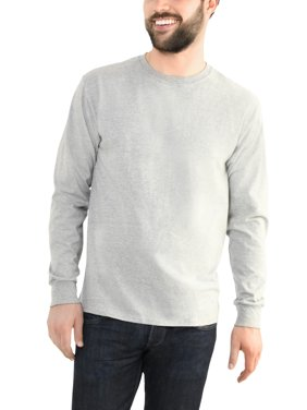 47aa7f1d Product Image Fruit of the Loom Men's Platinum EverSoft Long Sleeve T-Shirt,  Available up to