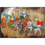 G Debrekht Inspirational Icon Three Kings Block Painting