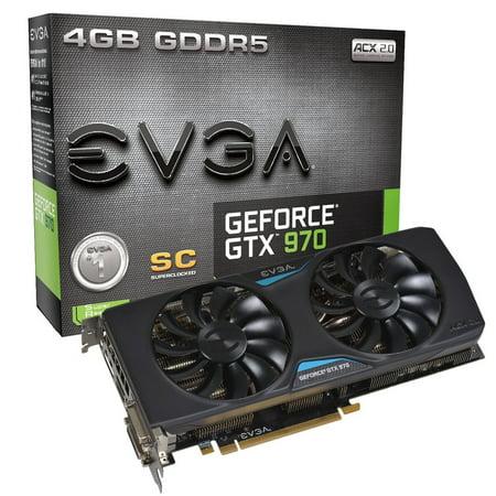 Evga Geforce Gtx 970 4Gb Superclocked  Acx 2 0 Graphics Card