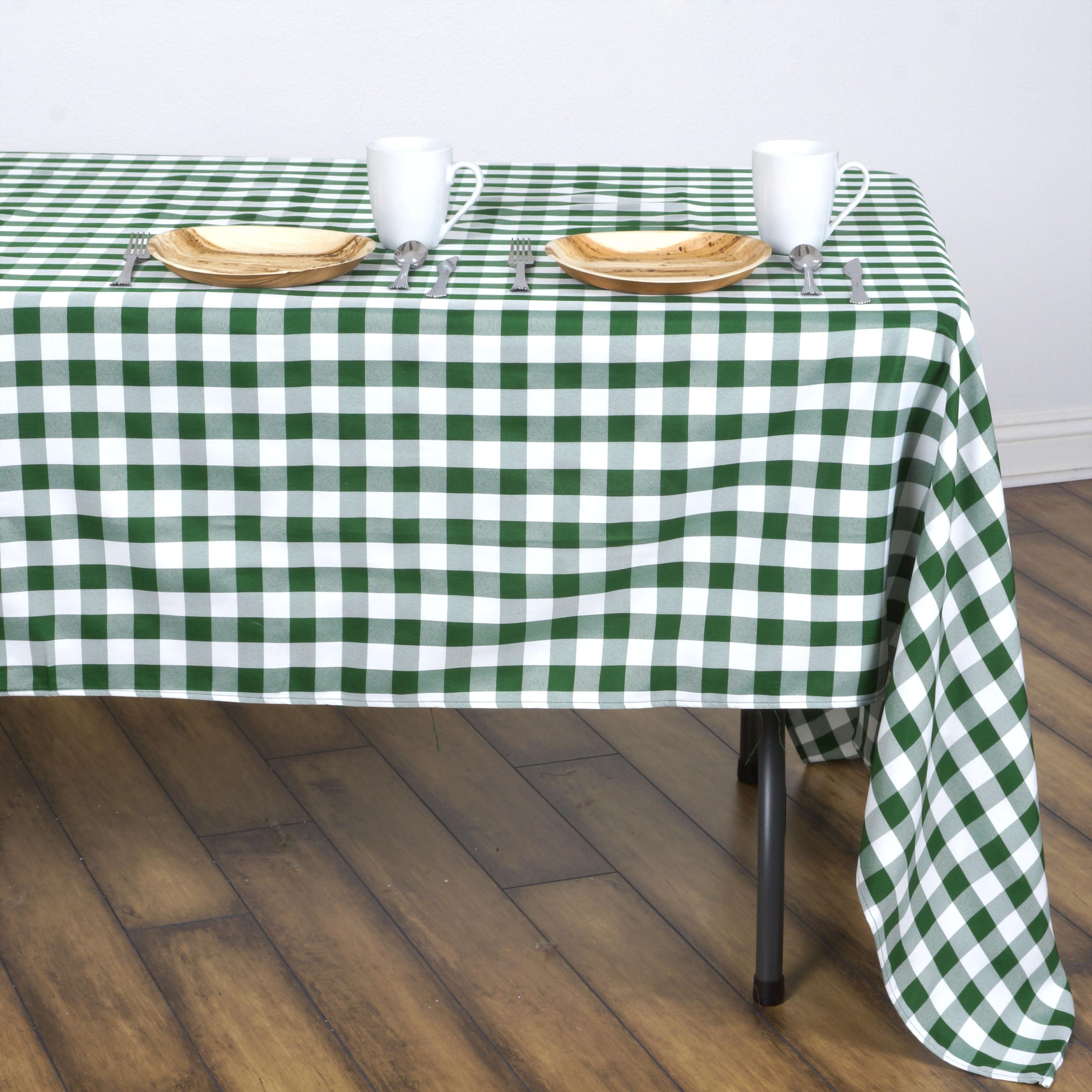 """BalsaCircle 60"""" x 126"""" Gingham Checkered Polyester Tablecloth for Garden Party... by BalsaCircle"""