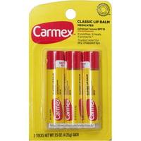 Carmex Classic Medicated Lip Balm, SPF 15, 3 ea (Pack of 2)
