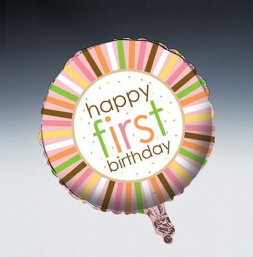 Sweet At One - Girl Mylar Balloon - 045101