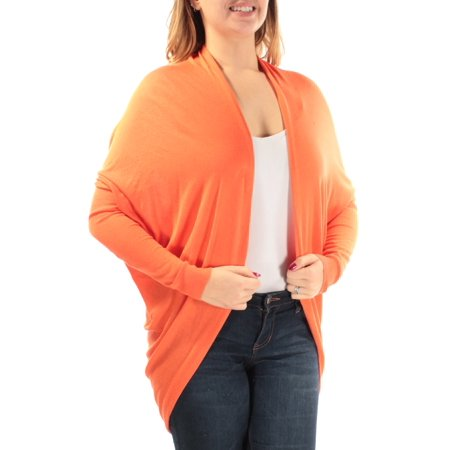RALPH LAUREN Womens Orange Long Sleeve Open Sweater  Size: - Ralph Lauren 3/4 Sleeve Sweater