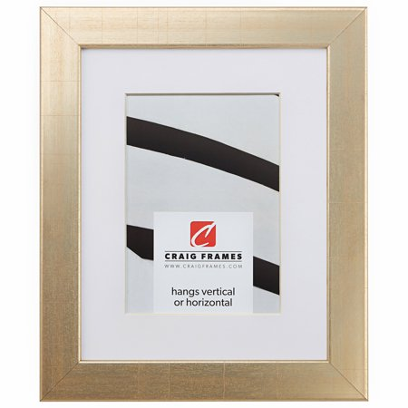 Craig Frames Bauhaus 125, 18 x 24 Inch Vintage Gold Picture Frame Matted to Display a 12 x 18 Inch Photo