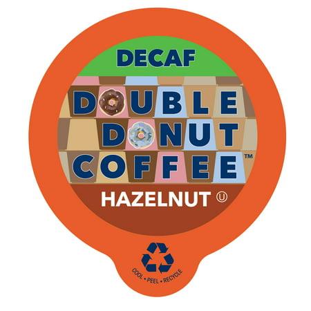 Double Donut, Decaf Hazelnut Coffee Single Serve Cups, 24 (Single Donut)