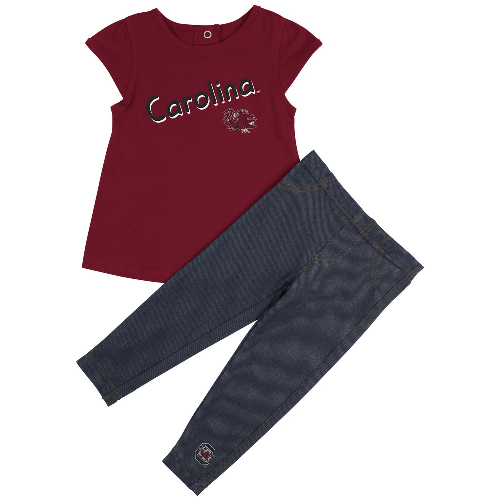 South Carolina Gamecocks Girls' Tee Shirt and Jeggings Set