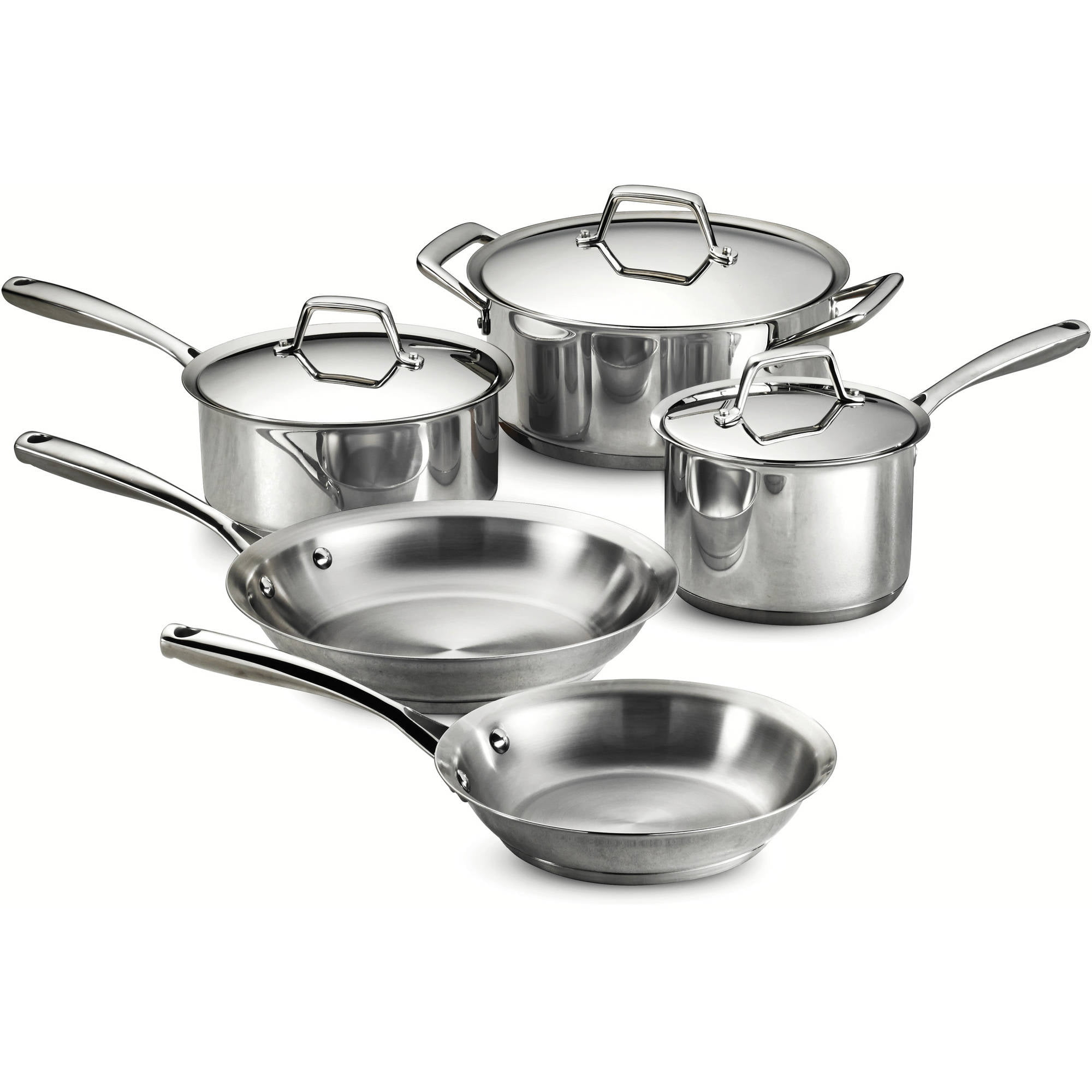 Tramontina Gourmet Prima 8-Piece Stainless Steel Cookware Set by Tramontina USA Inc.