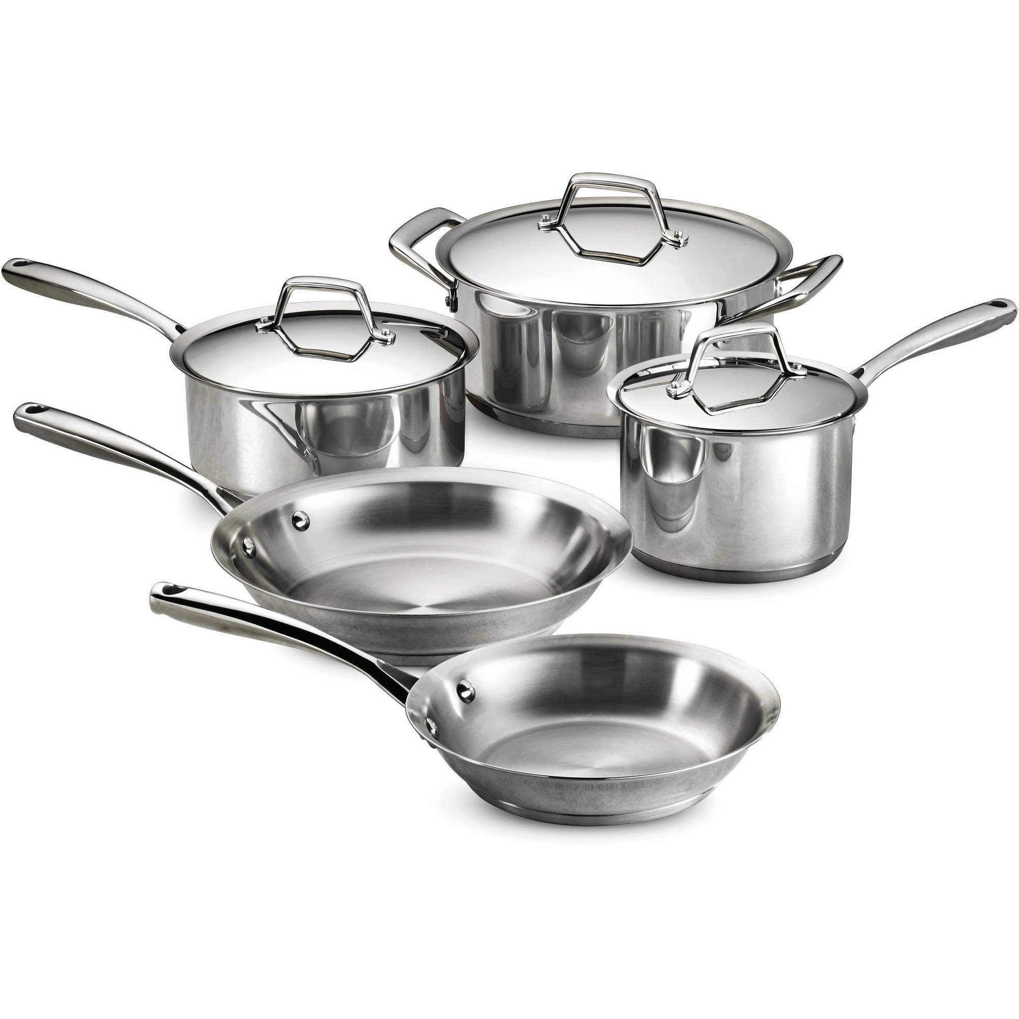 Tramontina Gourmet Prima 8-Piece Stainless Steel Cookware Set