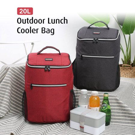 20L Outdoor Insulated Bag Cooler Luch Tote Thermal Bento Bag Outdoor Camping BBQ Picnic Food Freshness Cooler Grocery Shoulder
