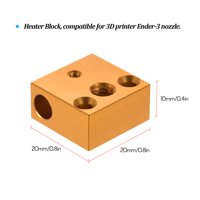 Creality 3D Printer Heater Block 20 * 20 * 10mm for Creality Ender3 3D Printer Extruder Nozzle Hotend Kit