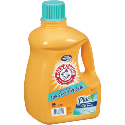 Arm & Hammer, 2x Ultra Liquid Laundry Detergent For Sensitive Skin 96 loads, 150 oz
