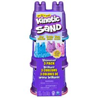 Kinetic Sand, Shimmer Sand 3 Pack with Molds and 12oz of Kinetic Sand