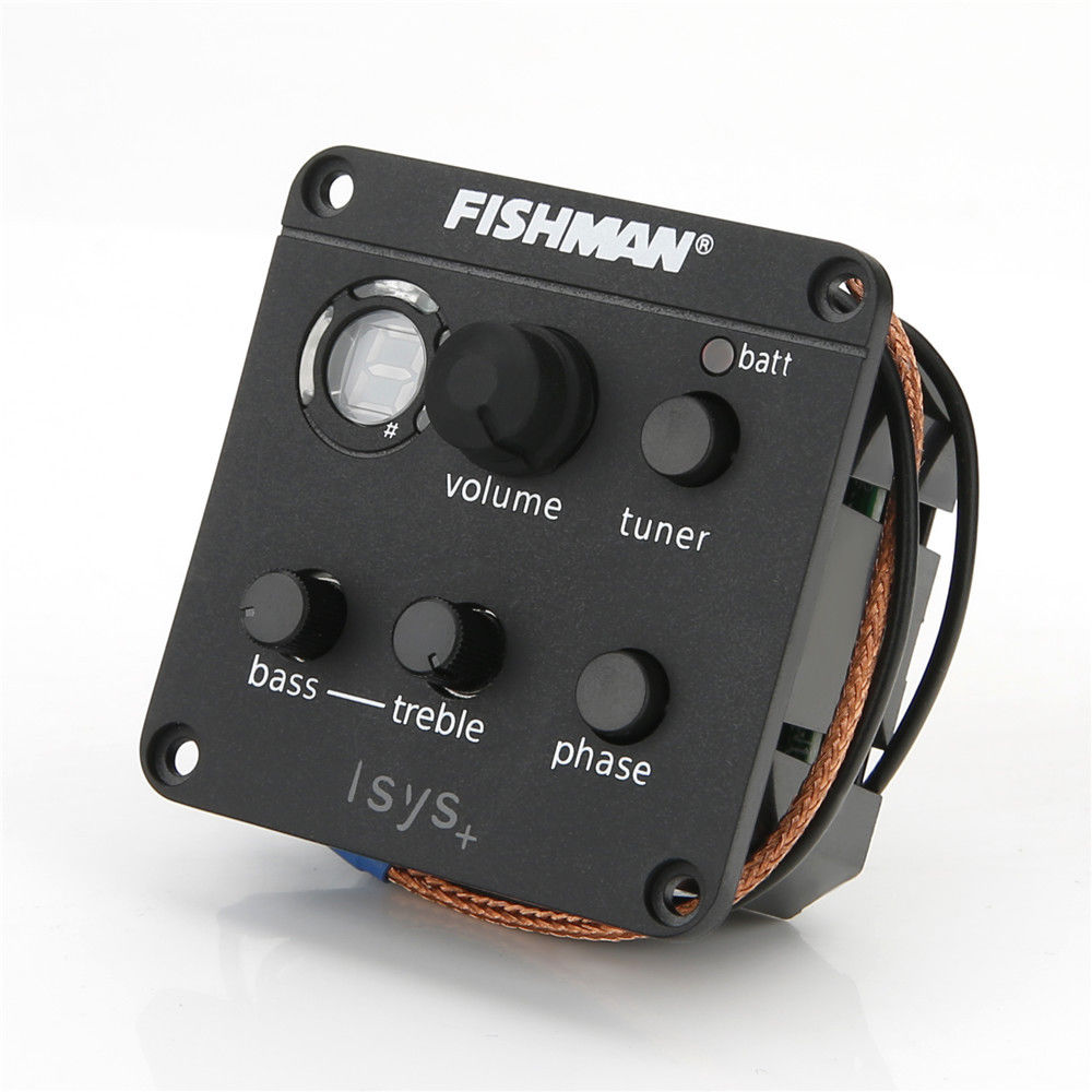 High Quality 4-Band EQ Equalizer Guitar Preamp Piezo Pickup Tuner Fishman ISYS+