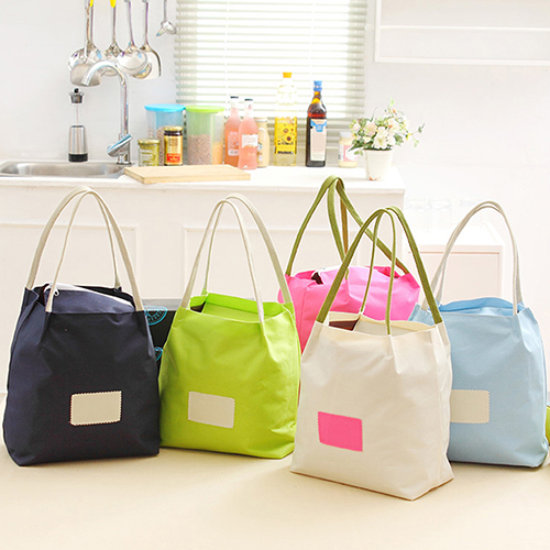 Portable Lunch Box Bag Travel Picnic Food Storage Handbag Shopping Tote
