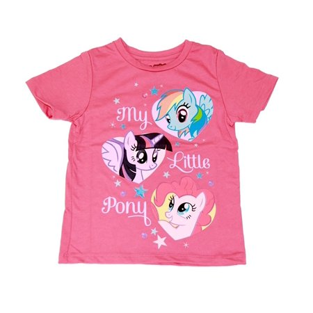 Sparkle Heart Tee (My Little Pony 3 Ponies Hearts Pink Sparkle Toddler's)