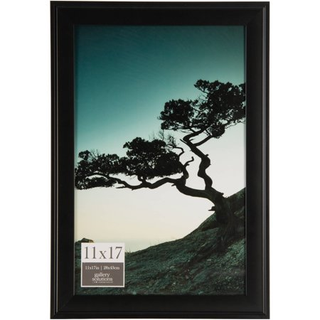 Gallery Solutions 11x17 Black Photo Frame
