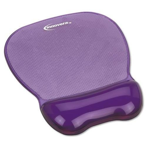"Innovera Gel Mouse Pad And Wrist Rest - 1.1"" X 8.3"" X 9.6"" - Purple - Gel, Rubber (51440)"
