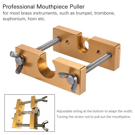 Professional Adjustable Mouthpiece Puller Remover Tool for Brass Trumpet Trombone Euphonium Horn Mouth Piece Silver - image 4 of 7