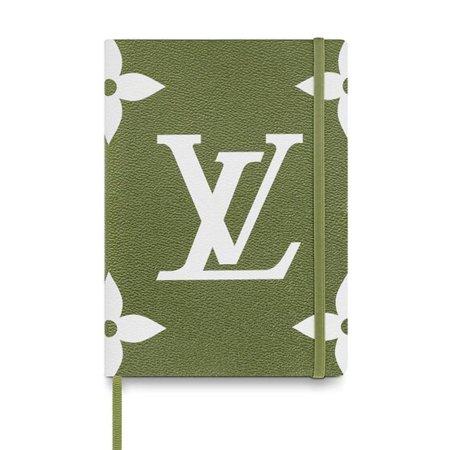 Louis Vuitton Green - Louis Vuitton Green Khaki Beige Monogram Giant Gustave Notebook Mm 870615