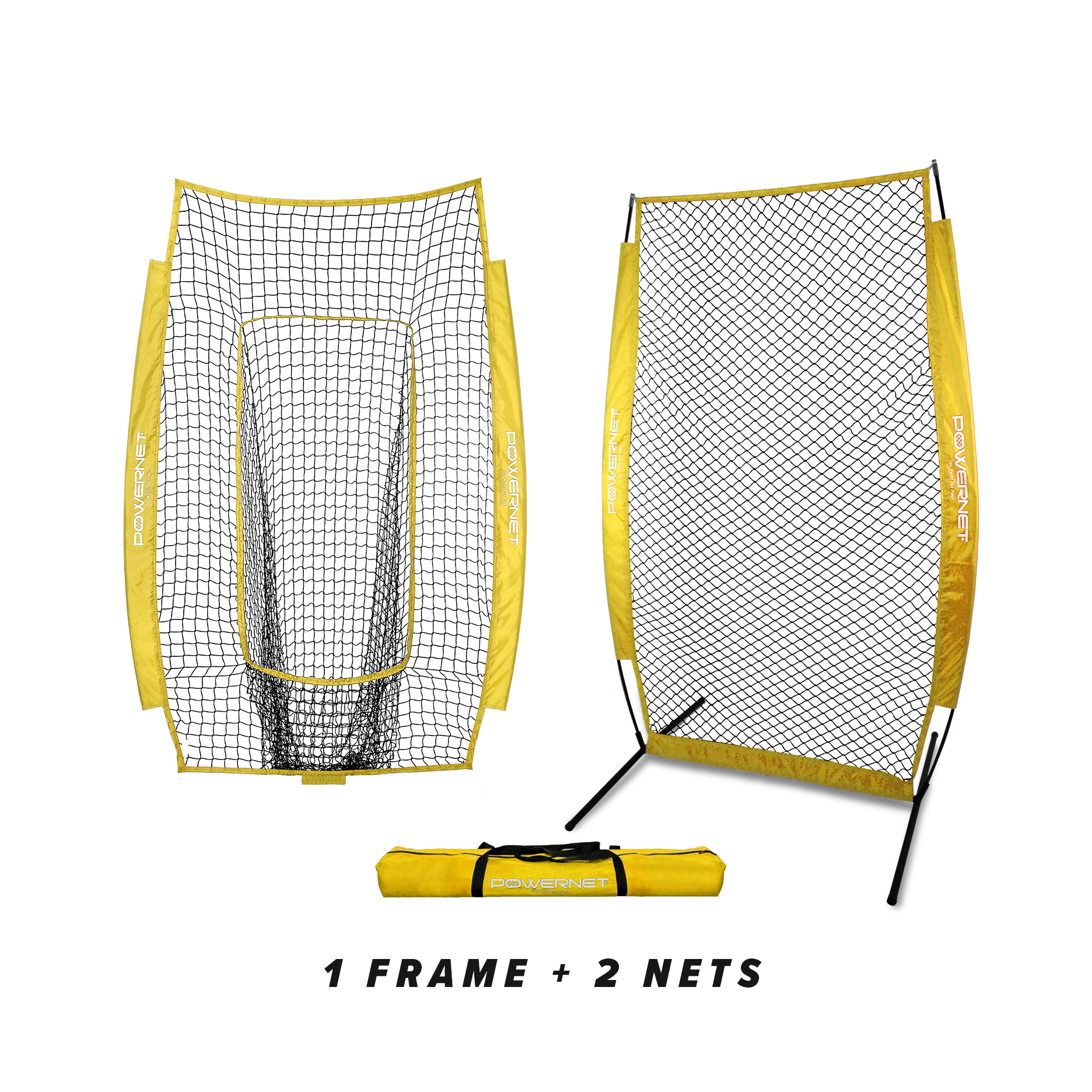 powernet i-screen w/ frame + infielder net bundle