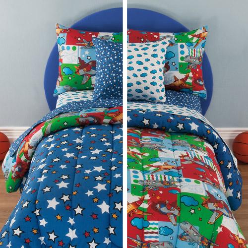 Kidz Mix Kids Friendly Skies Reversible Bed in a Bag
