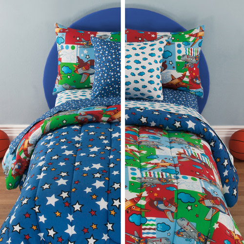 Kidz Mix Kids Friendly Skies Reversible Bed in a Bag