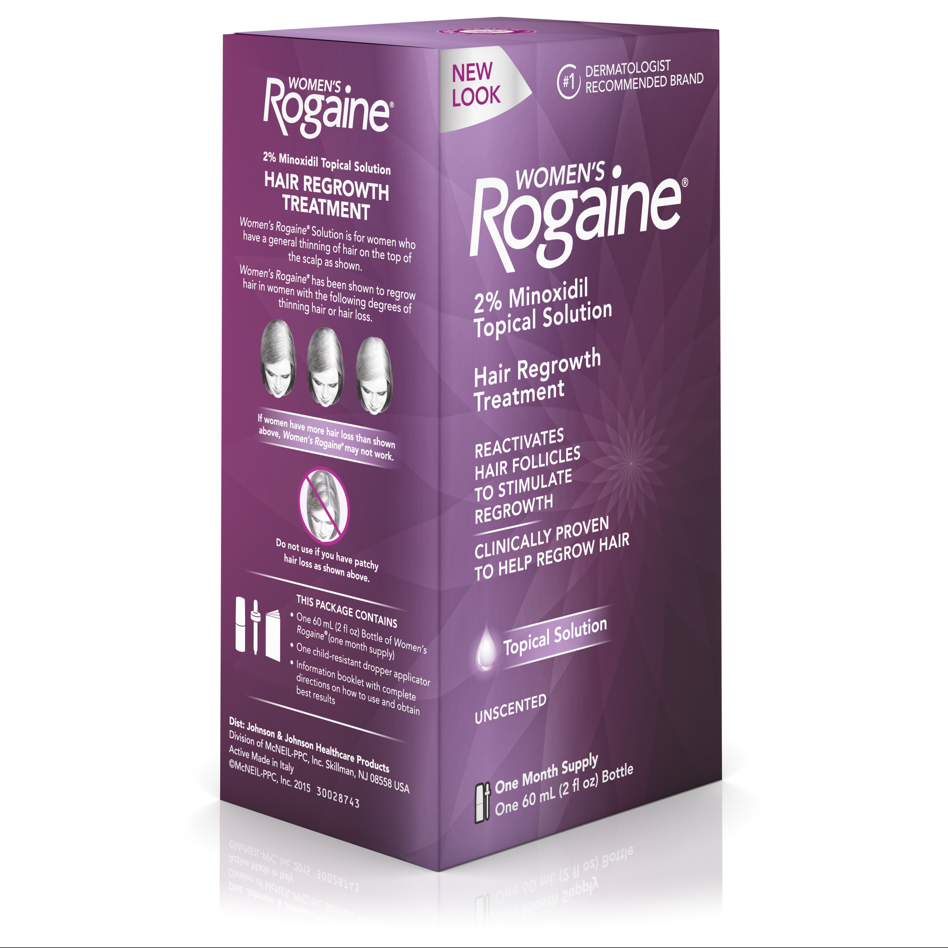 Womens Rogaine 2 Minoxidil Topical Solution 1 Month Supply