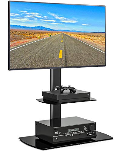 Fitueyes Universal Swivel TV Stand With Height Adjustable For Flat Screen TV