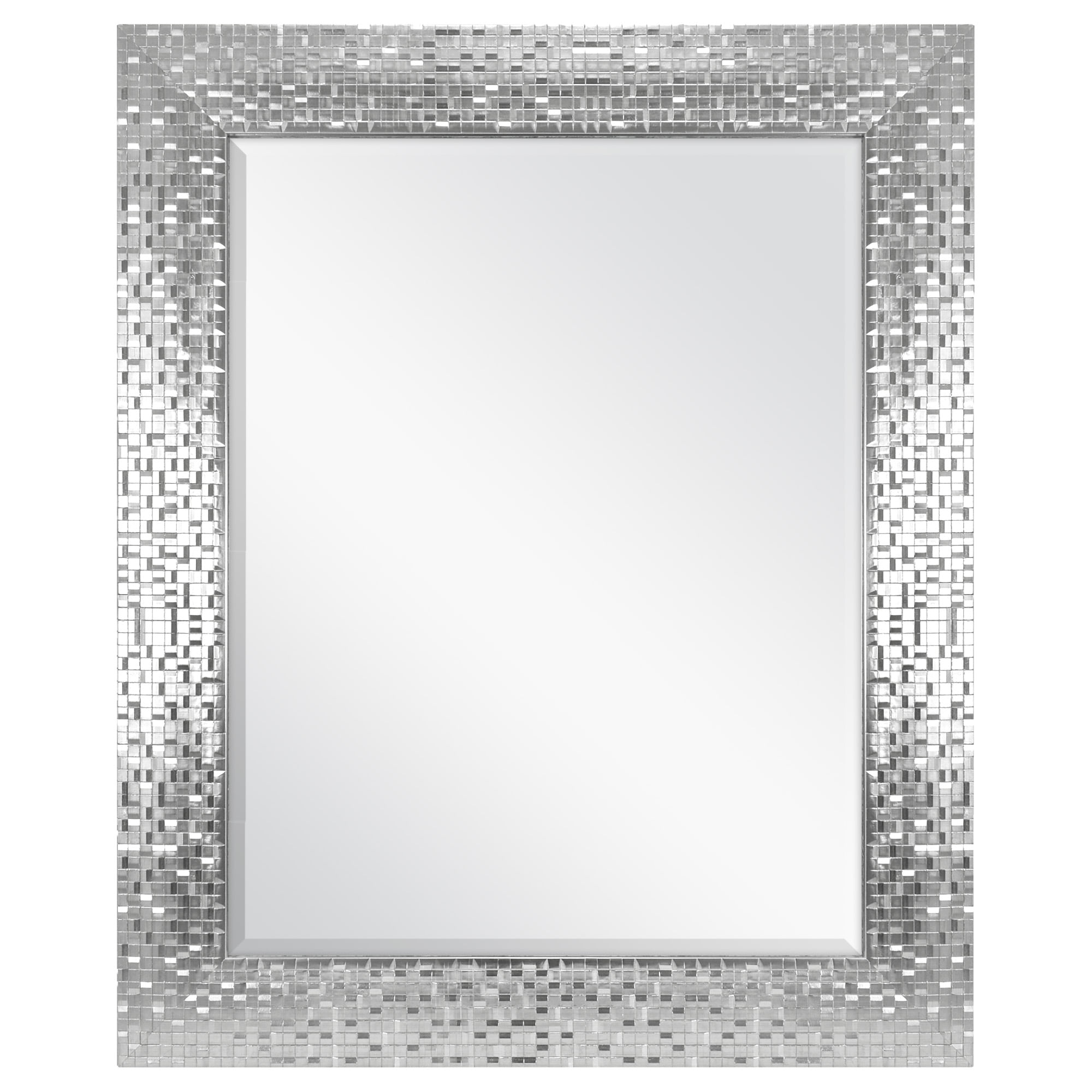 "Better Homes and Gardens 23"" x 28"" Silver Tile Mirror by MCS Industries, Inc."