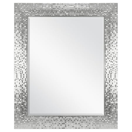 Better Homes & Gardens Silver Glam Mosaic Tile Wall Mirror ()