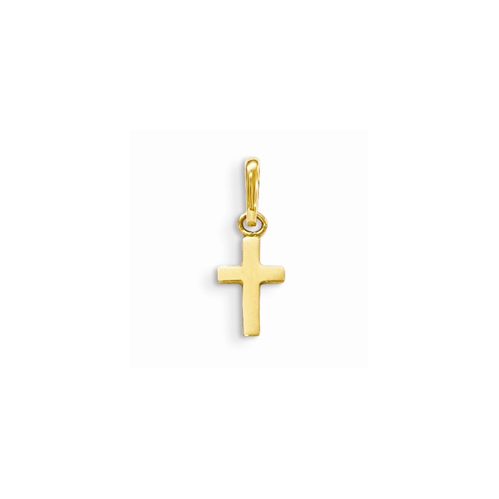 20mm x 15mm Million Charms 14K Two-tone Gold Religious Crucifix Anchor Charm Pendant