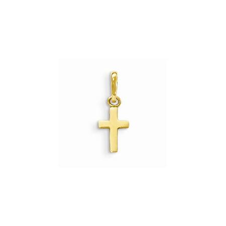14k Yellow Gold Madi K Children's Cross Pendant