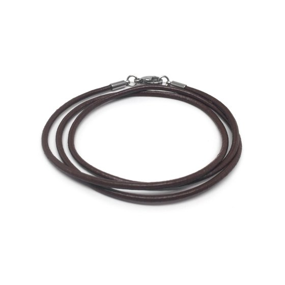 bfb8ff45da367 Loralyn Designs - Chocolate Brown Leather Necklace Cord (2mm) with Stainless  Steel Clasps - Walmart.com