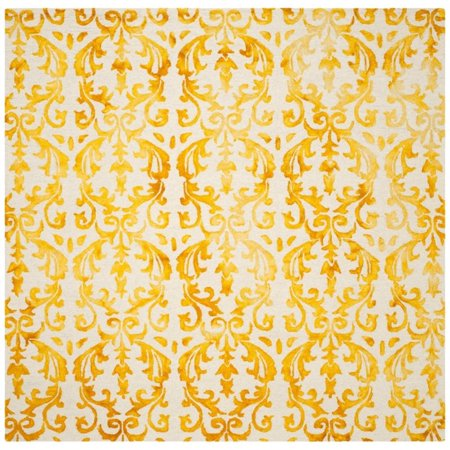 Safavieh Dip Dye 5' X 8' Hand Tufted Rug in Ivory and Gold - image 2 de 10