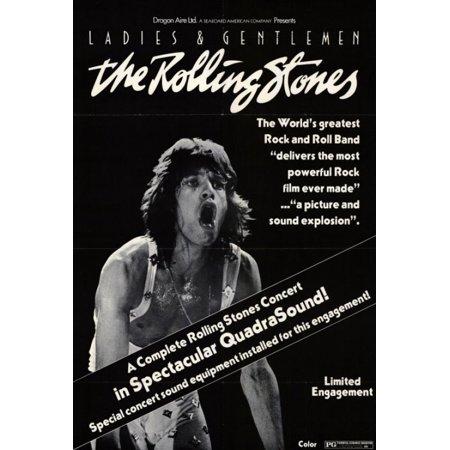 Ladies and Gentlemen the Rolling Stones Movie Poster Print (27 x (Ladies And Gentlemen The Rolling Stones Brown Sugar)
