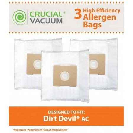 3 Dirt Devil AC Bags, Part # 304325001 - image 1 de 1