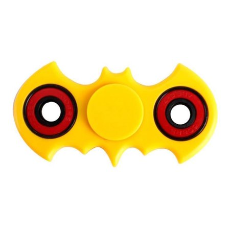 Batman Bat Shaped Fidget Spinner Yellow with Red