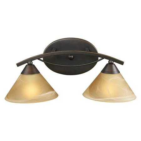 (Elk Lighting Elysburg Vanity Light Bar - Aged Bronze)